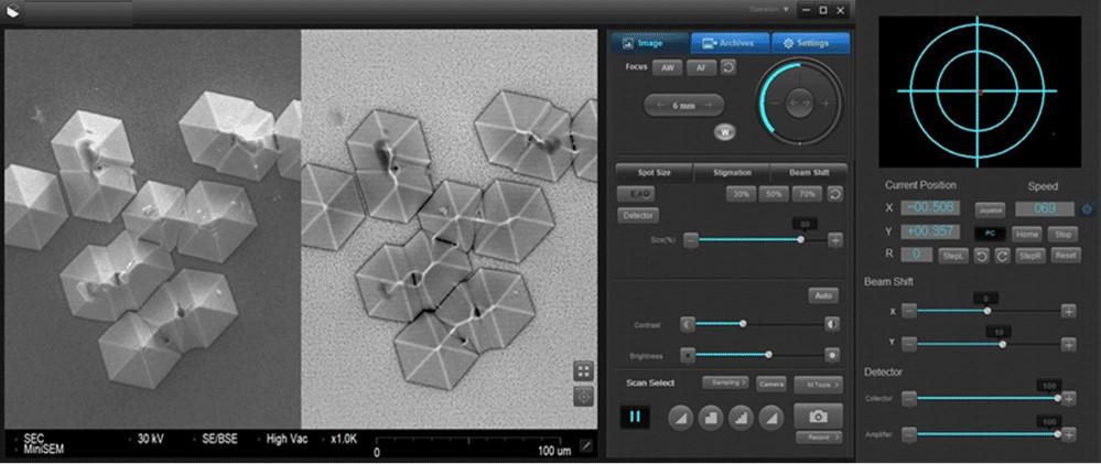 SEC_SNE_3200M_table_top_SEM_Scanning_Electron_Microscope_GUI